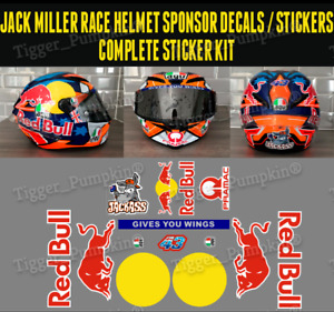 Jack Miller Helmet Decals Stickers Complete Sticker kit for AG/ Corsa Pista