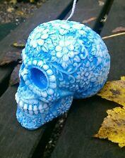 SUGAR SKULL CANDELA, grande giorno dei Morti Cranio CANDELA realizzato con cera di soia nel Regno Unito