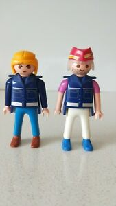 Playmobil Set Police Uniforms Action Figures x2 (New Without Tags or Box)