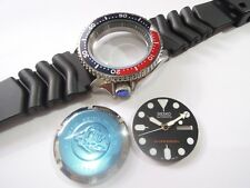 "NEW REPLACEMENT ""PEPSI"" CASE,CROWN,DIAL,HANDS,STRAP FITS SEIKO DIVER'S 7S26-0020"