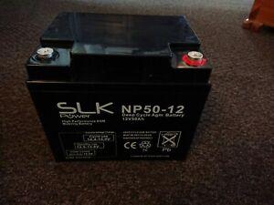 SLK POWER NP50-12 MOBILITY SCOOTER AGM BATTERY 1 x 12v 50AH