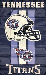 Tennessee Titans NFL Flag 3x5 ft Sports Blue Vertical Banner Man-Cave Garage