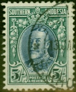 Southern Rhodesia 1931 5s Blue & Blue-Green SG27 Fine Used