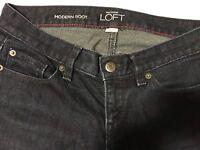Ann Taylor LOFT Jean Size 0 Modern Boot Cut Dark Blue Womens
