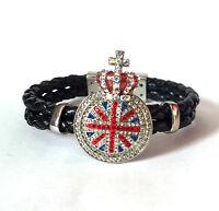 Butler and Wilson Crystal UnionJack Medal Magnetic Bracelet BLACK FRIDAY £38