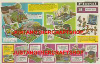 Britains Floral Garden 1964 Large A3 Size Poster Shop Sign Advert Leaflet