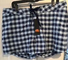 Wow! New Tags Sundek blue plaid swim trunks low rise size 36