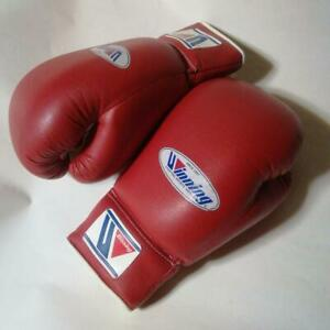 Winning Boxing glove PT700 8 oz Lace up Red Made In Japan