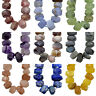"Natural Faceted Gemstones Nugget Freeform Spacer Loose Beads 8"" 10x15mm-13x19mm"