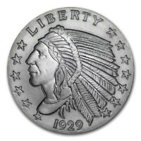 2~OZ ~ PURE .999 SILVER ROUND ~ INDIAN HEAD ~ AWESOME ~ $54.88 ~ FREE SHIPPING !