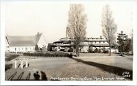 Fort Lawton Seattle Washington Officers Club Military Base Real Photo Postcard