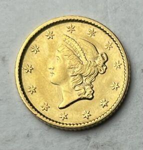 1853 1$ Gold Liberty Head Choice BU Type 1 Liberty Head Gold Coinage US Gold 1$