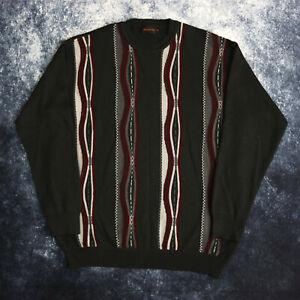 Vintage Dark Grey Coogi Style Jumper Sweater   Large