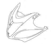 12 2012 HAYABUSA BRAND NEW GENUINE OEM UPPER NOSE FAIRING RED GSX1300R