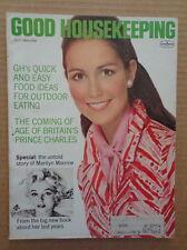 GOOD HOUSEKEEPING magazine July 1969 MARILYN MONROE Last Years-Prince Charles-