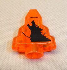 x1 NEW Lego Moonstone Rock Minifig Utensil TRANS ORANGE w/ BLACK Wolf