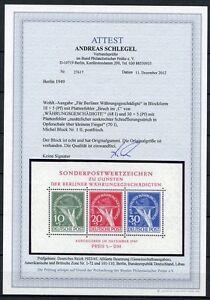 Berlin Block I mit Plattenfehler II Postfrisch Einwandfrei Attest KW 2500,- M€