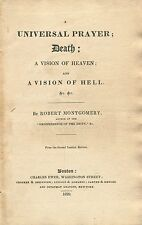 A UNIVERSAL PRAYER Death A Vision of Heaven and A Vision of Hell 1829 Religion