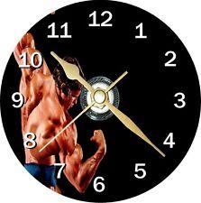 Arnold Schwarzenegger Corps Bâtiment Nouveauté cd horloge peut être personnalisé