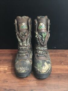 """Rocky 9"""" Sport Utility Max Camo Hunting Work Boots 7481 9W Wide 1000 Grams"""