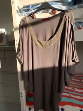 Velvet by Graham & Spencer Top with embroidered beaded neckline. S. Good Cond.