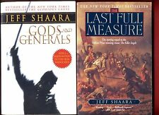 2 Jeff Shaara books: Gods and Generals + The Last Full Measure - Free Ship!