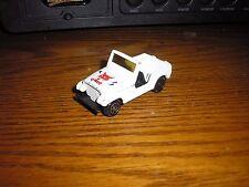 Rare Vintage 1/64 Die cast Tootsie Toy U.S. Army Mail Jeep White Free S/H