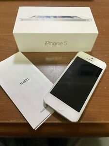 Apple iPhone 5 - 16GB - White & Silver (AT&T) A1428 (GSM)