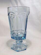 *NEW* Set of 4 vintage FOSTORIA light BLUE crystal glass VIRGINIA tea GLASSES