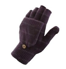 Magic Fingerless Combo Mitten Gloves Thermal Acrylic 2 in 1 Winter Warm Black