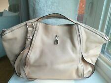 Francesco Biasia large leather shoulder handbag tote in light camel