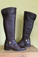 BROWN SOFT LEATHER RIDING STYLE KNEE HIGH BOOTS SIZE 7 / 40 BY MULBERRY USED CON