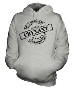MADE IN CRYNANT UNISEX HOODIE MENS WOMENS LADIES GIFT CHRISTMAS BIRTHDAY 50TH