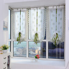 Tulle Curtains Printed Window Living Room Sheer Voile Kitchen Decorations TO