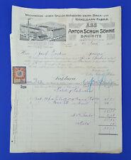 Alte Rechnung 1915 aus Daubitz, Zwirn-Strick-Häkelgarn-Fabrik     (C23)