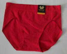 Wacoal Skinsense Seamless Hi Cut Brief Panty 871254 Nylon 5 Small S Red