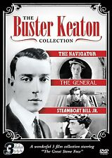 Buster Keaton 3 Film DVD Collection The Navigator General & Steamboat Bill Jr.