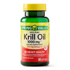 Spring Valley 100% Pure Krill Oil Softgels 1000 mg, 30 ct