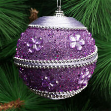 Purple Christmas Baubles For Sale Ebay