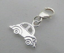 Car Clip on Bracelet Charm - Sterling Silver 925 - New Driver / Licence Pass