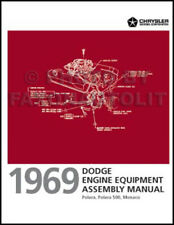 1969 Dodge Polara and Monaco Engine Equipment Assembly Manual 318 383 440