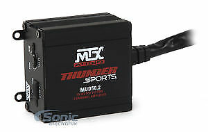 MTX MUD50.2 100 Watt RMS 2-Channel Amplifier Amp For Polaris RZR/ATV/UTV/Cart