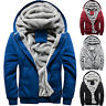Men Thick Warm Fleece Fur Lined Hoodie Zip Up Winter Coat Jacket Sweatshirt Tops