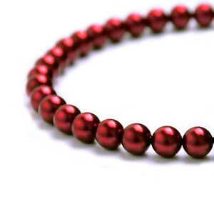 Pearl Beads Jewelry Crafts 3mm 4mm 6mm 8mm 10mm 12mm Czech Glass Round Crystal