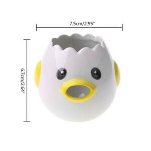 Cartoon Chick Ceramic Egg Divider White Yolk Separator Creative Liquid Filter