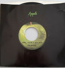 THE BEATLES, BABY, YOU'RE A RICH MAN / ALL YOU NEED IS LOVE ORIGINAL Apple, MINT