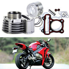47mm Silver Big Bore Kit Cylinder Barrel Piston Rings fit Scooter Moped GY6 50