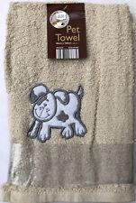Dog Design Pet Towel Dog Grooming Bathing Drying Towel Cream