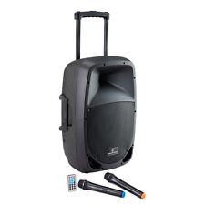 Soundsation Cassa 12 Impianto audio Portatile a Batteria, Trolley, MP3/Bluetooth