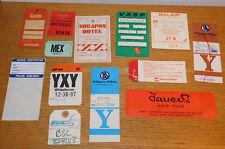 vintage ETIQUETTE ticket billet d'avion AIR airlines SWISSAIR polar FAUCETT vasp